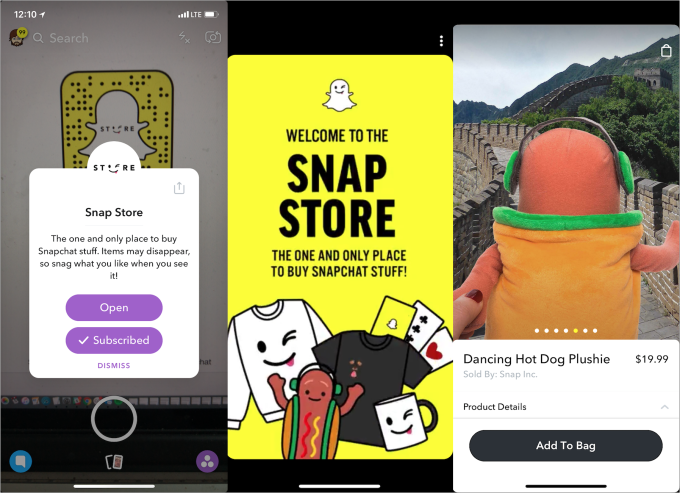 snap store demo
